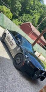 Stolen police car