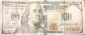 A large number of the phony bills found Tuesday carry Chinese markings.