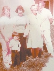 Pictured are Beulah Caban, Earline, Annie Caudill Delph, Pauline and Dora Evelyn.
