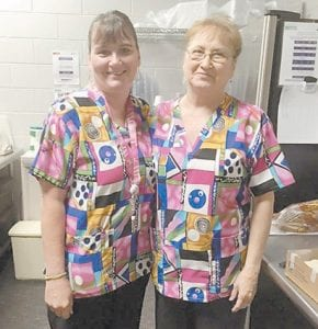 Carmen Brock and Sue Miles from Letcher County Senior Citizens had a training day recently.