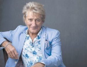 """Rod Stewart posed for a portrait last week in New York to promote his tour and upcoming album, """"Blood Red Roses."""" (Photo by Drew Gurian/Invision/AP)"""