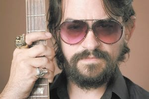 """Singer-songwriter Shooter Jennings, son of iconic country musicians Waylon Jennings and Jessi Colter, posed for this portrait in Los Angeles recently to promote his latest album, """"Shooter."""" (Photo by Chris Pizzello/Invision/AP)"""