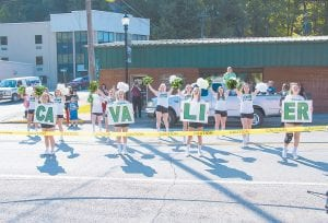 The Jenkins High School cheerleading squad came out to show its school spirit during Saturday's parade.