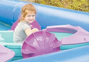 Avery Graham was all smiles on the paddle boat ride at the Jenkins Homecoming Days carnival.