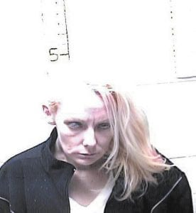 Samantha Collins is seen in this jail booking photo taken in March.