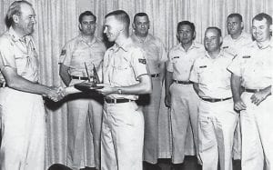 General Cunningham (left) was the boss of Everett Vanover (second from left) overseas and stateside.