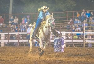 Dakota Monroe came away as a winner in a women's segment of the Isom Days Rodeo, a main feature of the annual Isom Days Festival.