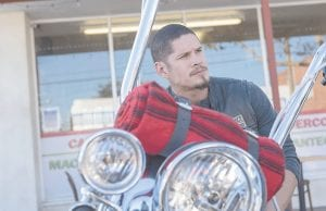 """This image released by FX shows J.D. Pardo as EZ Reyes in a scene from """"Mayans M.C."""" The debut episode premiered Tuesday night and re-airs Sept. 6 at 12 a.m. and on Sept. 7 at 11:30 p.m. (Prashant Gupta/FX via AP)"""