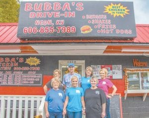 The friendly staff at Bubba's Drive-In are proud supporters of the annual Neon Area Days festival. They invite you to visit them for the best food around!