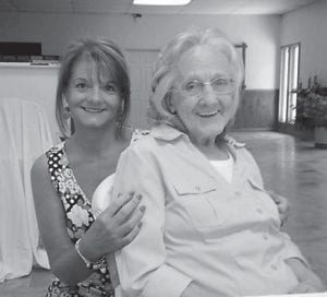 Gyrt Hall Cook is pictured with her daughter Jennifer Cook Hall.