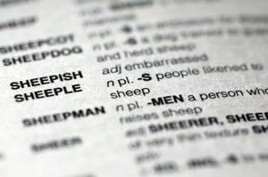 "The word sheeple appears in the new edition of Merriam Webster's ""Official Scrabble Players Dictionary."" It is among more than 300 additions. (AP Photo)"