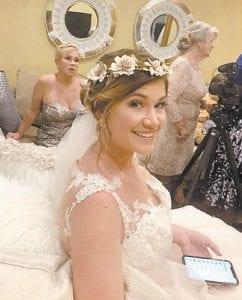 Jodi Gray Davidson, a granddaughter of Southern Ohio correspondent Rose Ballard, is pictured at her wedding to Carl Davidson.