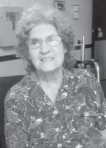 Dorothy Tacket on her 88th birthday as she was being discharged from Pikeville Medical Center on September 29.