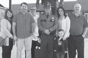 Bob Smith, a teacher at West Whitesburg Elementary School, is shown with his wife Debbie Smith and their three children, Kyle and his wife Brandy and their son Conner, Tyler Smith, and Ashley Smith.