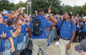 Kentucky fans turned out in force to support the Wildcats in last week's game at Texas A&M. (Jeff Houchin)