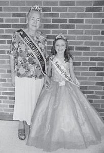 Rose Adams (left) and Chloe Rose Wright were pageant winners at the Court Days Festival in Mount Sterling.