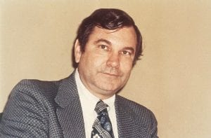 """This December 1972 file photo shows Walter """"Dee'' Huddleston, the then Democratic Senator-elect from Kentucky. Huddleston, a former two-term U.S. senator whose political career was abruptly ended by Republican Mitch McConnell in 1984, has died. He was 92. Huddleston's son, Steve, said his father died in his sleep early Tuesday in Warsaw, Ky. (AP Photo)"""