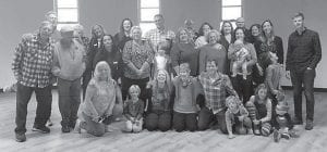 Pictured are the descendants of Ellen and Art Flanary who gathered for a reunion the weekend of Oct. 20 in Whitesburg.