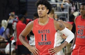 Kentucky commit Dontaie Allen of Pendleton County is a prolific scorer but also a willing passer.
