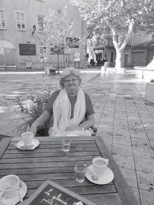 Pictured is Jo Waugh, an Englishwoman whom Gwen Johnson met in France.