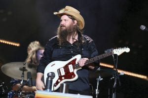 """Chris Stapleton was photographed this past summer performing at the 2018 CMA Music Festival in Nashville. Stapleton's """"Broken Halos"""" is nominated for single of the year and song of the year for the Country Music Association Awards. (Photo by Laura Roberts/Invision/AP)"""