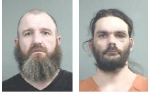 Mitchell Darringer Adams, left, and Shiloh Cody Adams were arrested last week on drugs and weapons charges in Louisville.