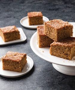 "This photo shows applesauce snack cake. This recipe appears in the cookbook ""Perfect Cake."" (Joe Keller/America's Test Kitchen via AP)"