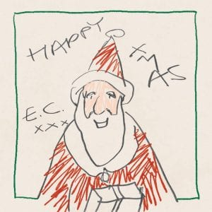 "This cover image shows ""Happy Xmas,"" a holiday album by Eric Clapton. (Bushbranch Records/Surfdog Records via AP)"