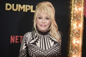 """Dolly Parton attended the world premiere of """"Dumplin'"""" at TCL Chinese Theatre on December 6 in Los Angeles. (Photo by Richard Shotwell/Invision/AP)"""