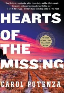"""This cover of """"Hearts of the Missing,"""" a mystery by Carol Potenza. (Minotaur via AP)"""