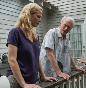 """Alison Eastwood, left, and Clint Eastwood in a scene from """"The Mule."""" (Claire Folger/Warner Bros. Pictures via AP)"""