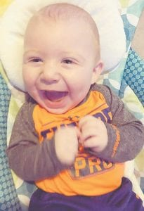 Lincoln Johnson, son of Logan and Haley Whitaker Johnson