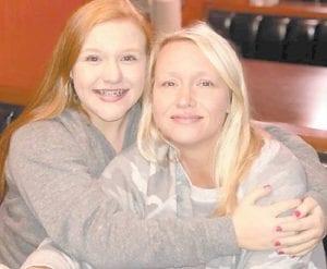 Marissa Webb with her mom Maranda Webb.