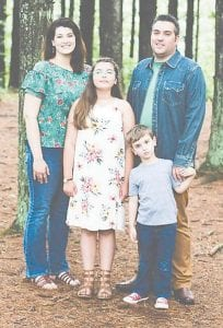 Jamie and Karen Graves Barger with their daughter Ava Louise and their son Silas.