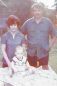 Jim and Georgia Hall with their son Jimbo.