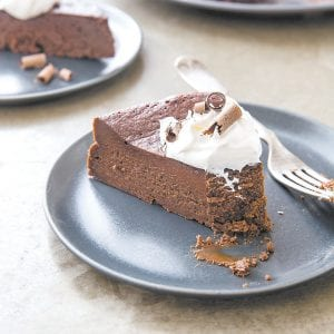 """This photo provided by America's Test Kitchen shows Flourless Chocolate Cake. This recipe appears in the cookbook """"Perfect Cake."""""""