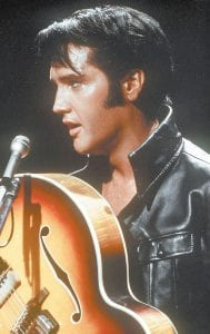 "Elvis Presley, then only 33 years old, is pictured here with his semi-acoustic guitar in 1968. The onehour TV show ""Singer Presents ... Elvis,"" better known today as the '68 Comeback Special, is a show the program's producer, Steve Binder, never thought would endure. ""Nothing is dated,"" says Binder. ""That show could have been shot yesterday. I had no idea it would ever be seen again."" (AP Photo)"