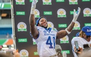 Josh Allen thinks he should be the top pick in the draft and others think it could happen. (Mont Dawson Photo)