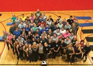 "Pictured are some of the nearly 150 people who have signed up for the ""New You for the New Year"" fitness challenge at the Letcher County Recreational Center."