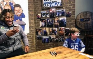 All-American running back Benny Snell signed autographs for five hours last week at KSBar & Grille in Lexington. (Matt Walter Photo)