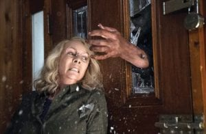 """Jamie Lee Curtis is shown in a scene from """"Halloween 2018,"""" which went on sale to the public this week. (Universal Pictures)."""