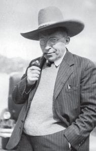 First insulin shot given in 1922 Pictured here is Sir Frederick Banting, discoverer of insulin and head of the Banting Institute of Toronto, obligingly donning a ten-gallon hat to pose for the photographer during his sojourn at Jasper National Park, Alberta, July 1, 1936. On January 23, 1922, 14-year-old Canadian Leonard Thompson became the first person to receive an insulin injection as treatment for diabetes. Until then, the only way to treat diabetes was through dieting. (AP Photo/The Canadian Press)