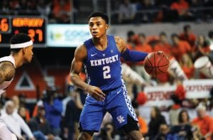 Ashton Hagans had three more steals against Auburn and his seven straight games with three or more steals is the most for a Power 5 freshman since Chris Paul had a stretch of 10 straight games with three or more steals in the 15 years ago. (Vicky Graff Photo)