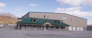 The hemp processing plant would be located in this vacant building in the Gateway Business Park in Jenkins.