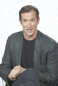 "Noah Wyle participated in the ""The Red Line"" show panel during the CBS presentation at the Television Critics Association Winter Press Tour. (Invision/AP)"