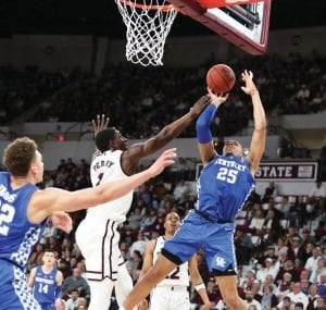 John Calipari is not sure why the light came on for sophomore PJ Washington, but he's glad it did because he's been as good as any player in the SEC the last month. (Vicky Graff Photo)