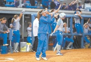 "Kentucky coach Rachel Lawson tries to recruit ""smart"" catchers that have a high GPA as well as SEC level talent. (UK Athletics Photo)"