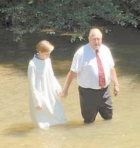 Pastor Bill Jones with Hannah Caudill