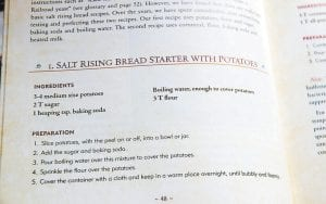 """A salt rising bread recipe from Genevieve Bardwell's and Susan Ray Brown's book called """"Salt Rising Bread: Recipes and Heartfelt Stories of a Nearly Lost Appalachian Tradition."""" Both women mentored chef Amy Dawson during her year of learning how to bake salt rising bread."""