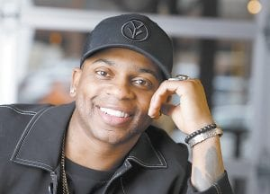 Country singer Jimmie Allen is the first black artist to launch his career with a No. 1 single on the Billboard Country Airplay chart. (AP Photo/Mark Humphrey)